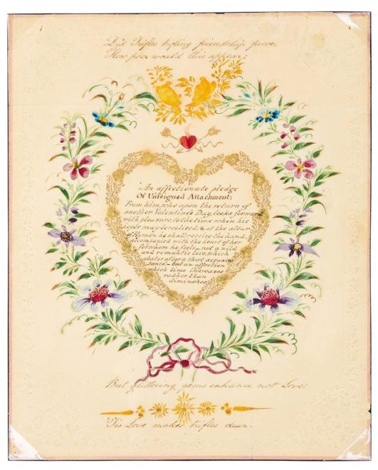 A Valentine letter from 1818