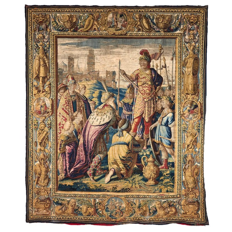 An antique tapestry from Sir William Whitfield Collection