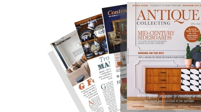 Pages from April 2020 issue of Antique Collecting magazine