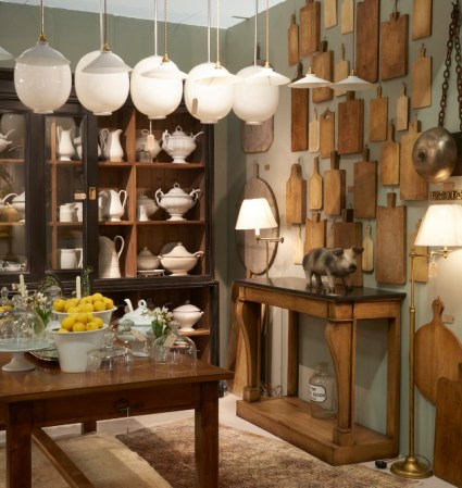 Kitchenalia on display at the Decorative Antiques and Textiles Fair in Battersea