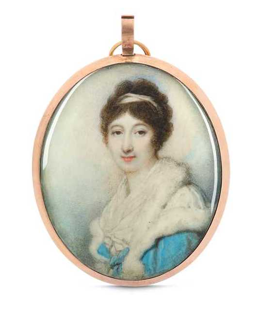 Miniature portrait of an unknown lady