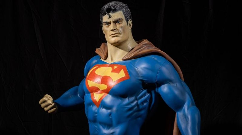 Sculpture of Superman in West Yorkshire sale