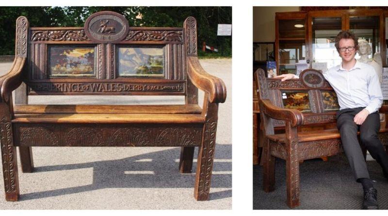 Royal bench in Derbyshire sale