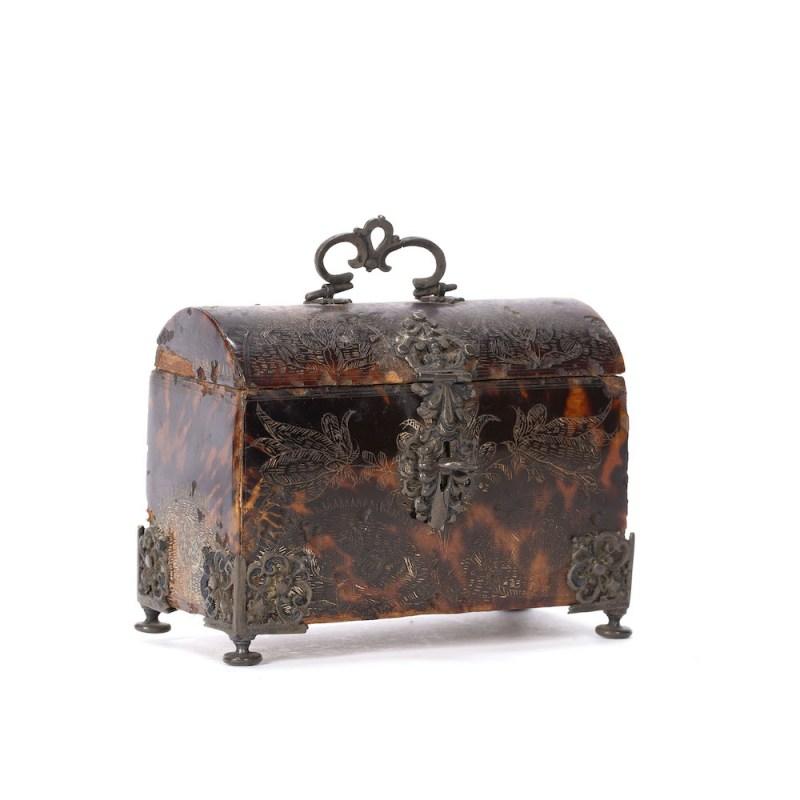 18th-century tortoiseshell casket