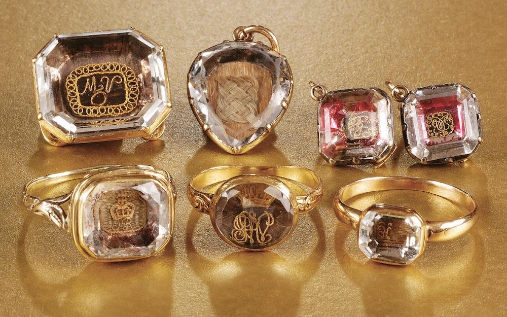 Selection of Georgian mourning jewellery