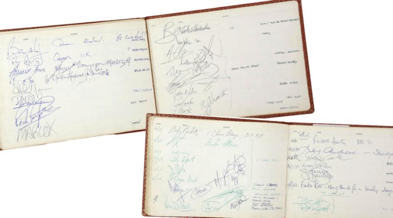 Celebrity autographs in Battersea Heliport album