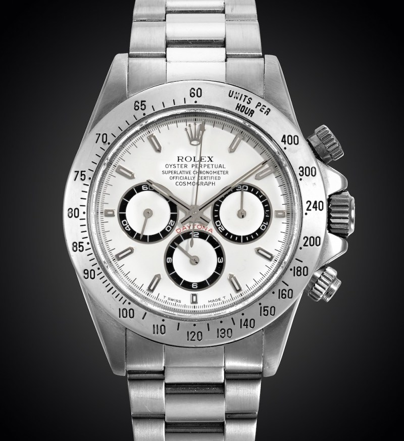 Rolex Cosmograph 'Zenith' Daytona Reference 16520 Stainless Steel Automatic Chronograph Wristwatch
