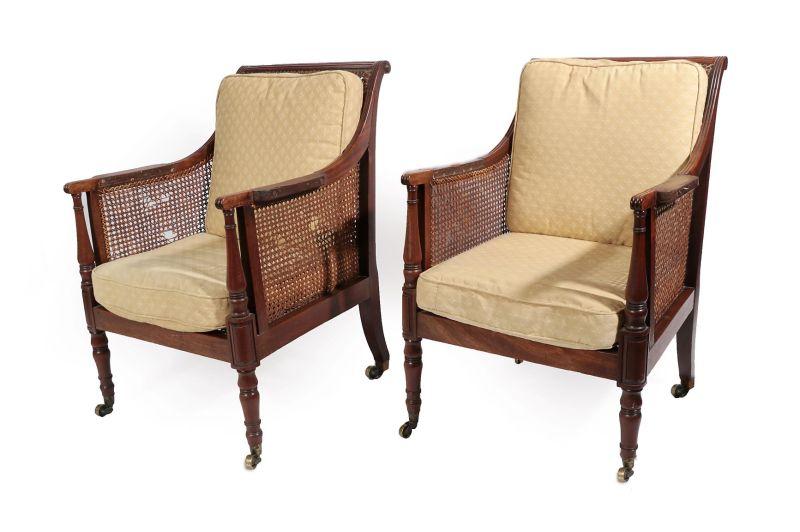 pair of Uxbridge chairs