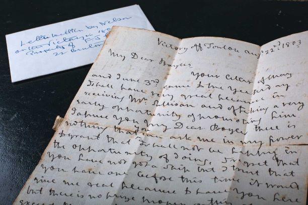 Handwritten letter from Horatio Nelson