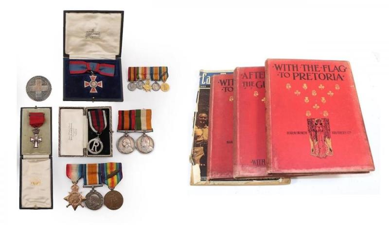Boer War and First World War group of nursing medals and badges