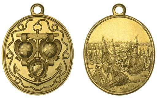 A 17th-century Naval Reward medal