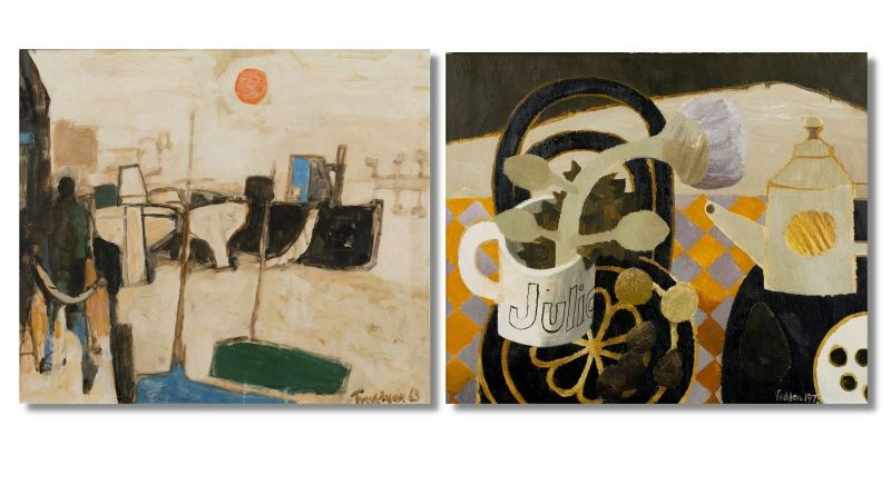 Artworks by Mary Fedden and Julian Trevelyan
