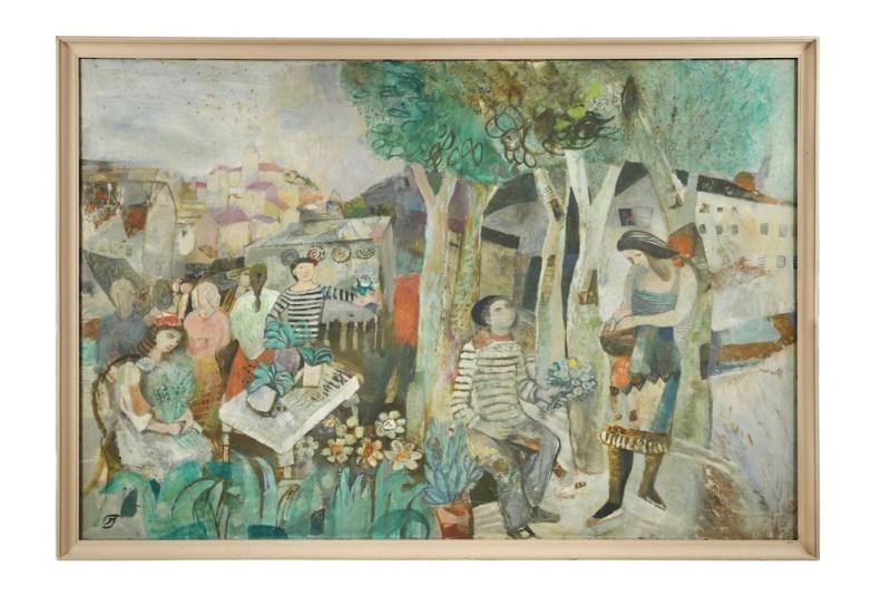 Gwyneth Johnstone - Provencale Market painting
