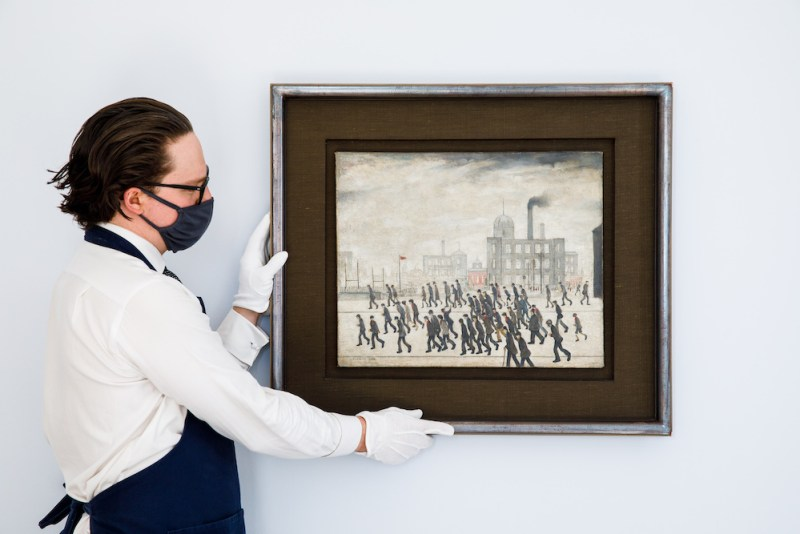 L.S. Lowry, Going to the Match, 1928, oil on canvas