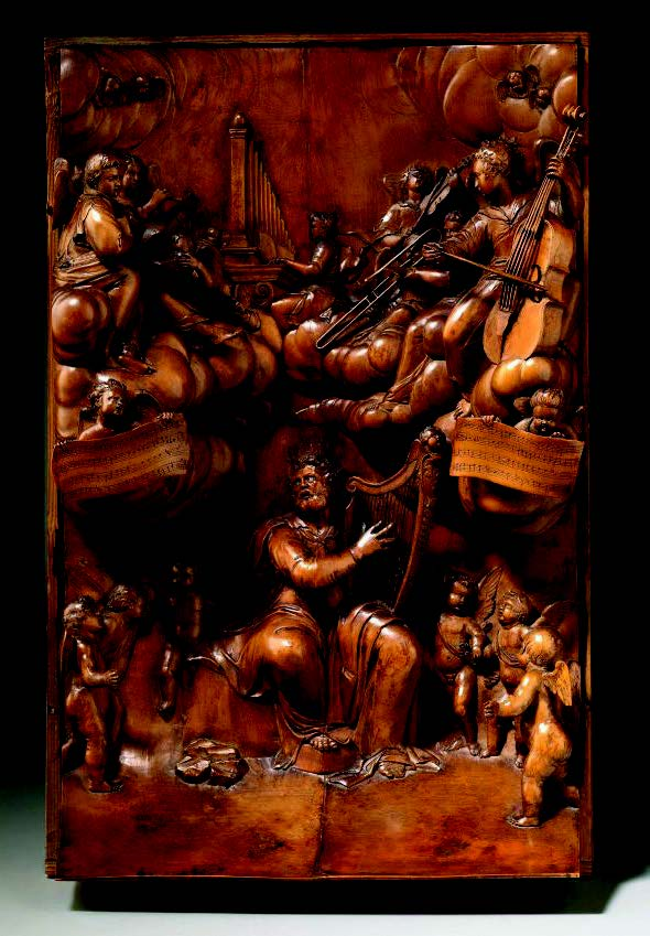 Grinling Gibbons'St David's panel, nowseen at Fairfax House,York