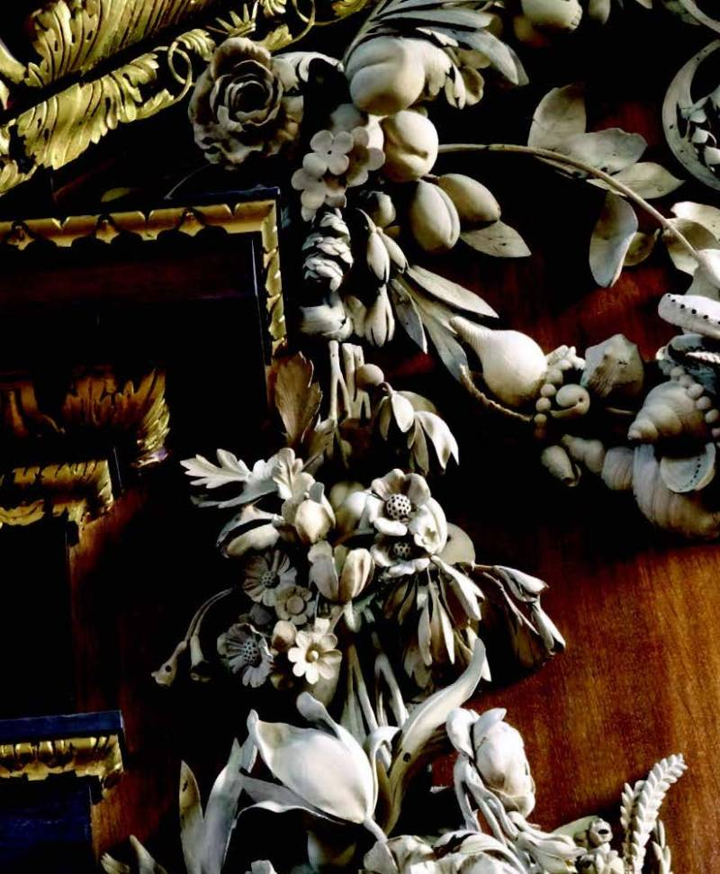 Gibbons' carvingsat St James, Piccadilly,© Grinling GibbonsSociety