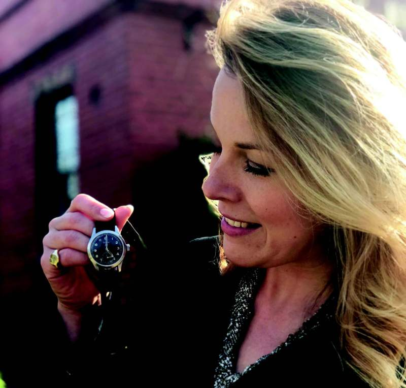 Christina Trevanion and one of the Dirty Dozen military watches