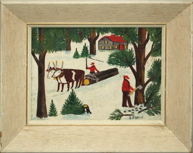 Maud Kathleen Lewis lumberjack painting
