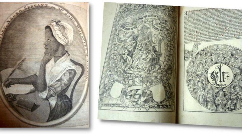 Nuremberg Chronicle and Phillis Wheatley poetry