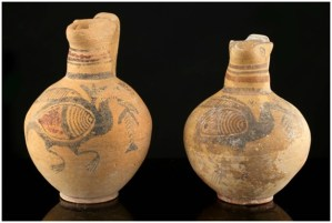 A pair of Cypriot Terracotta Jugs