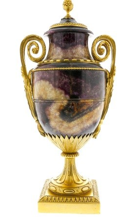 ormolu-mounted Blue John urn