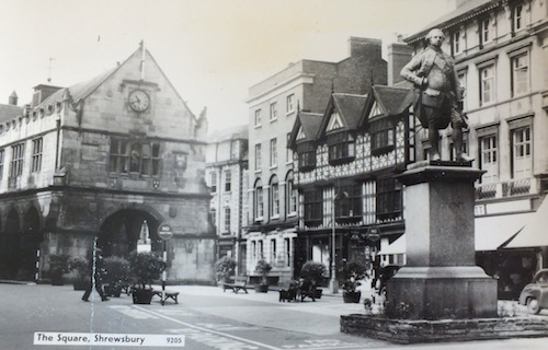 Postcard of old Shrewsbury