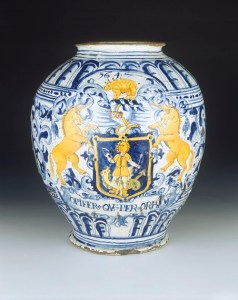 Delft drug jar