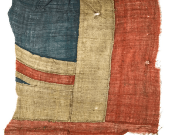 Fragment from Nelson's Union Jack at Battle of Trafalgar