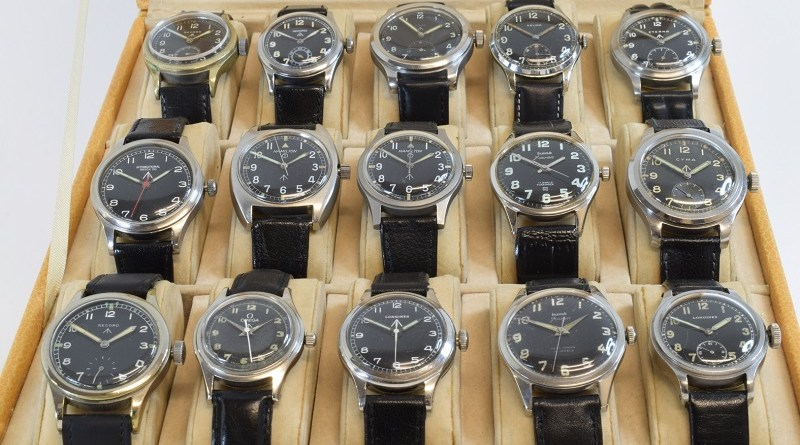 The Collection of military watches set to be sold at auction