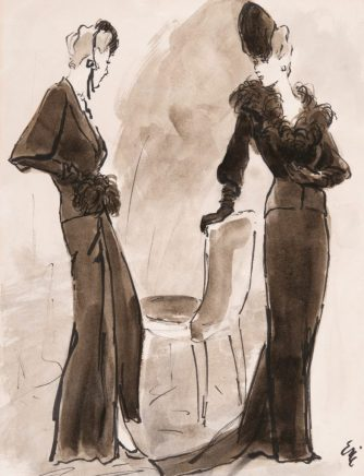 Carl 'Eric' Erickson, fashion illustration for Schiaparelli fashions