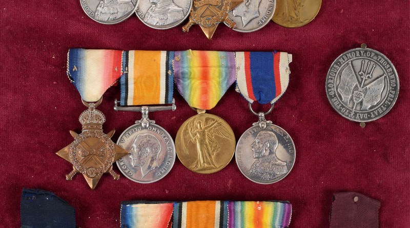 the collection of military medals