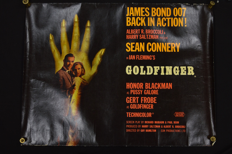 James Bond Goldfinger original film poster