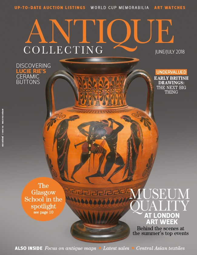 Antique Collecting magazine June and July 2018 front cover
