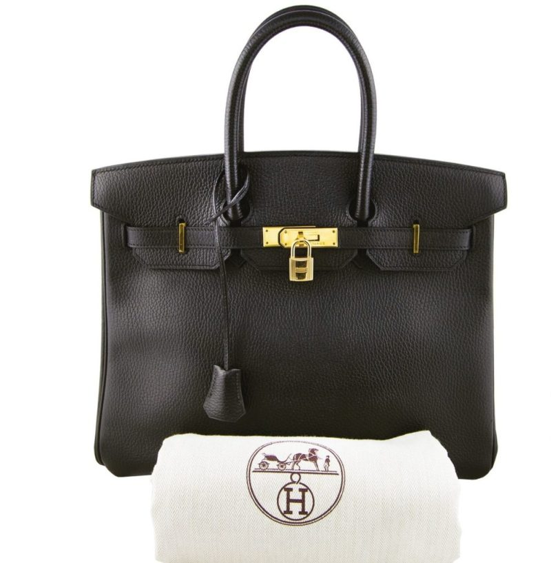 A Hermès Birkin 35 in black Ardennes leather