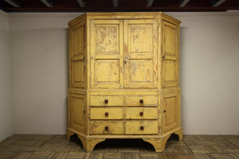Antique Georgina furniture like this cupboard with original paintwork are in demand