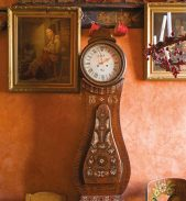 An antique Swedish Mora clock in this month's Antique Collecting magazine
