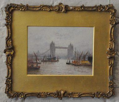 Goff London watercolour of Tower Bridge