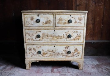 A 19th-century chinoiserie chest of drawers