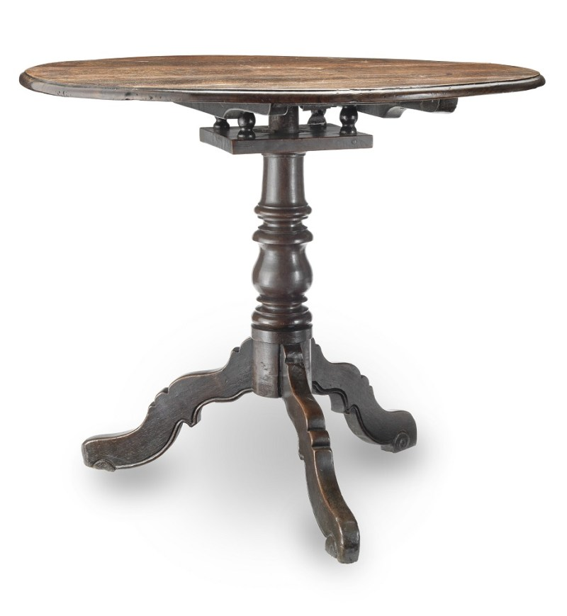 Antique 18th-century oak tripod table