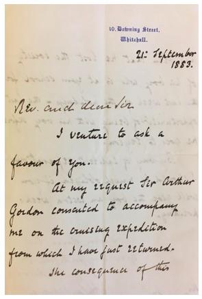 The letter written to Winston Churchill's headmaster