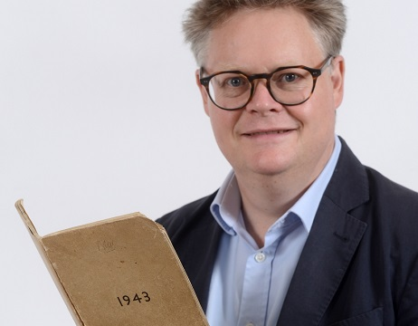 Auctioneer Richard with secret wartime diary
