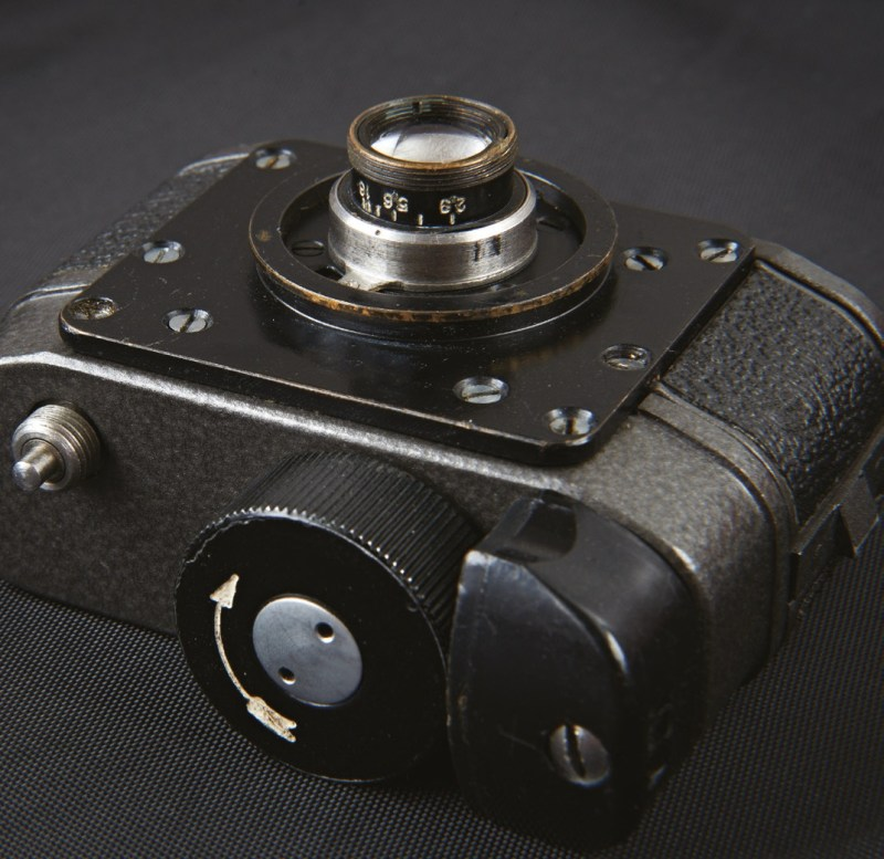 A Soviet Cold War spy camera