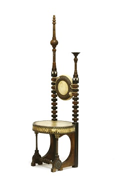 Carlo Bugatti throne chair