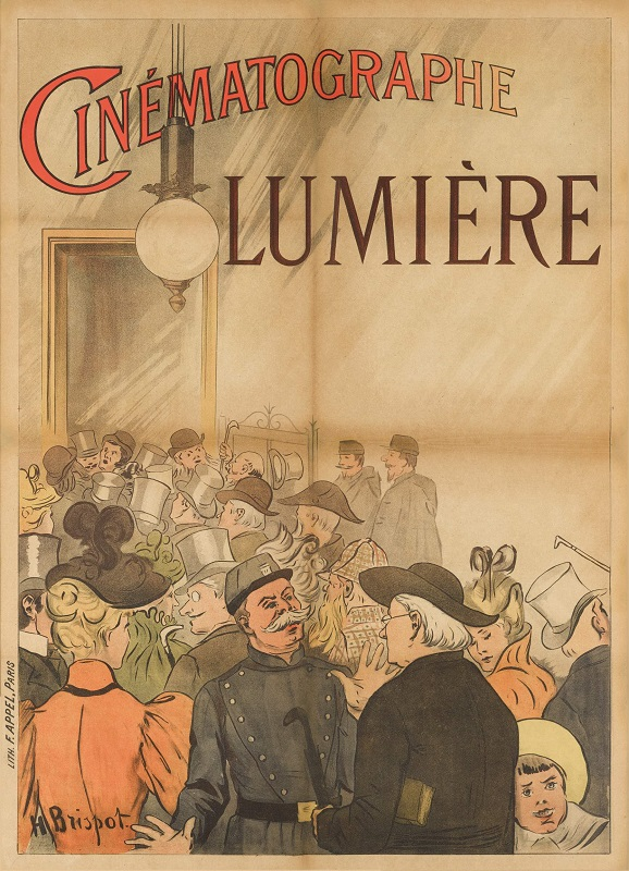The world's first film poster for Cinématographe Lumière (1896) poster in Sotheby's sale