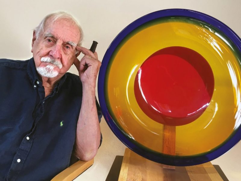 American glass designer Wayne Husted