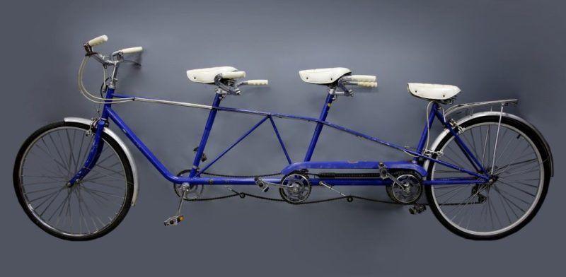 The well-known three-seater 'trandem' bike used by the much-loved comedy trio, The Goodies, had a final price of £2,665