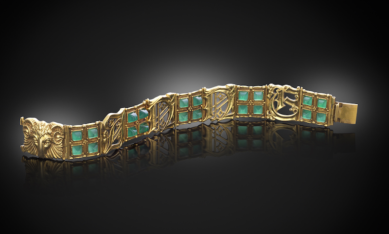 A gold bracelet by Omar Ramsden from the Dr Anne Shannon Jewellery Collection