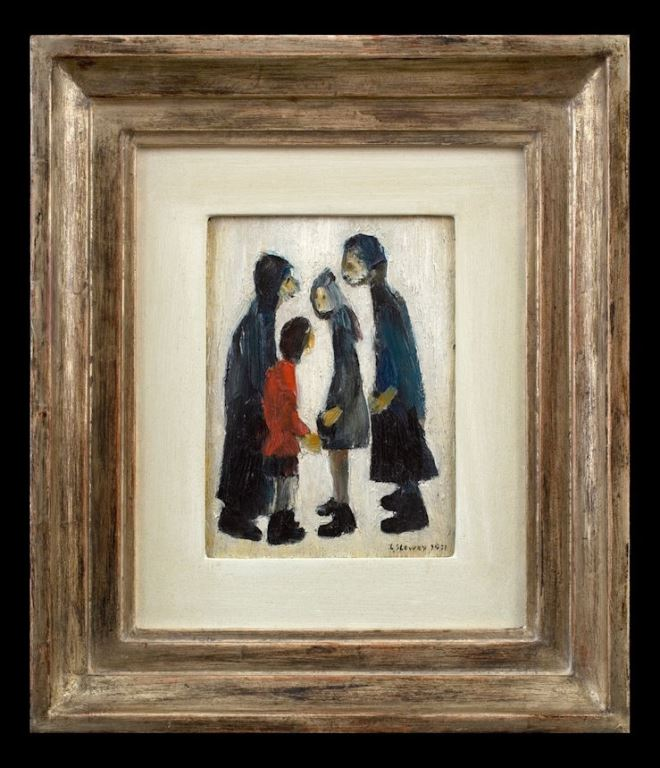 The CADA online exhibition - Trinity House Paintings Laurence Stephen Lowry Family Group, 1931
