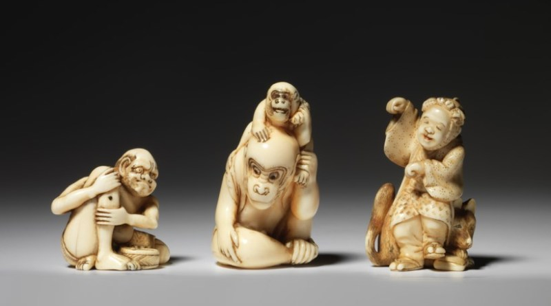 Collection of Japanese netsuke sculptures