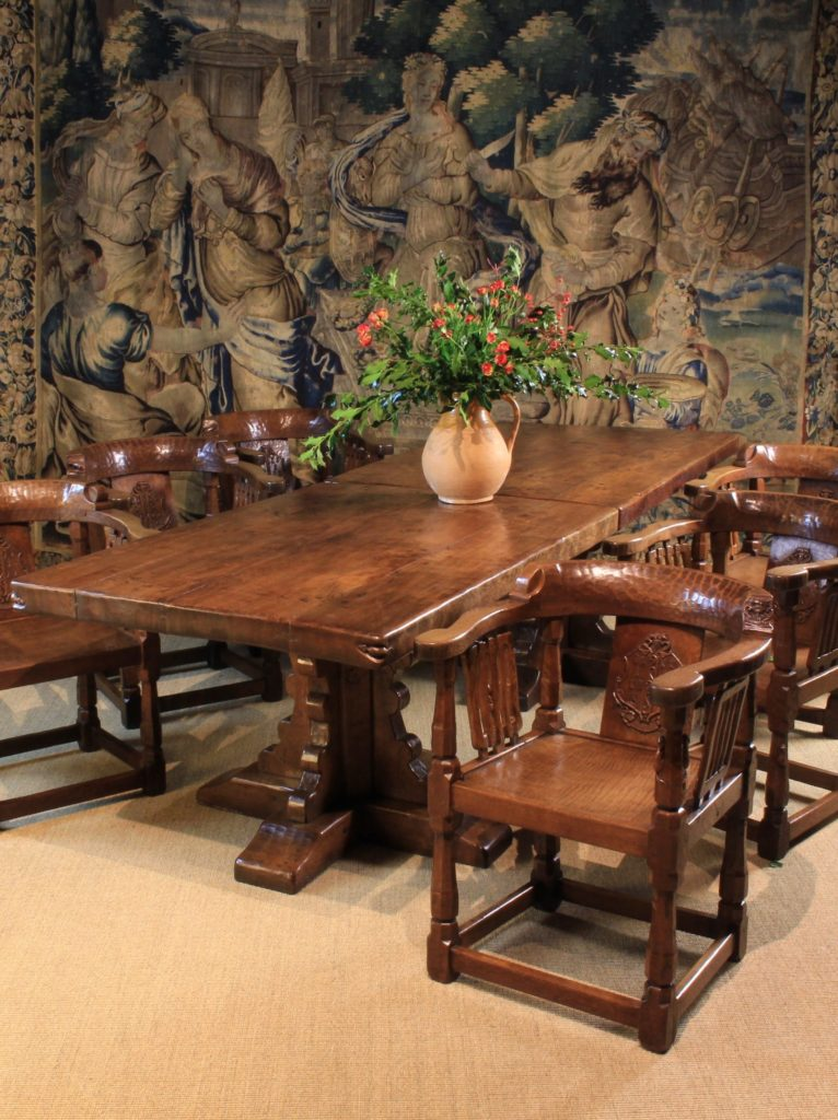 Robert Mouseman Thompson table and chairs